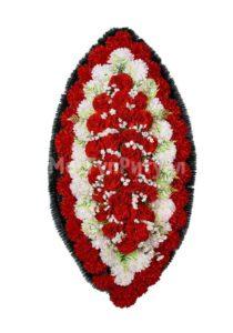 Венок ритуальный на похороны серия «заказной» №39